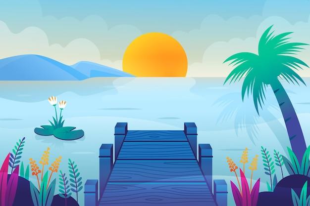 Fundo de paisagem de verão para zoom