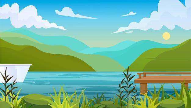 Fundo de paisagem de verão