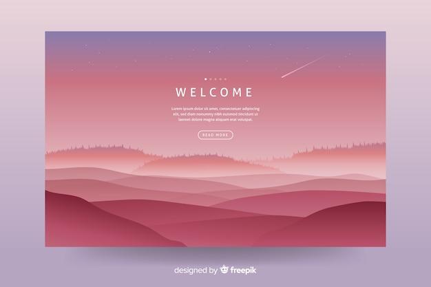 Fundo de paisagem gradiente para página de destino