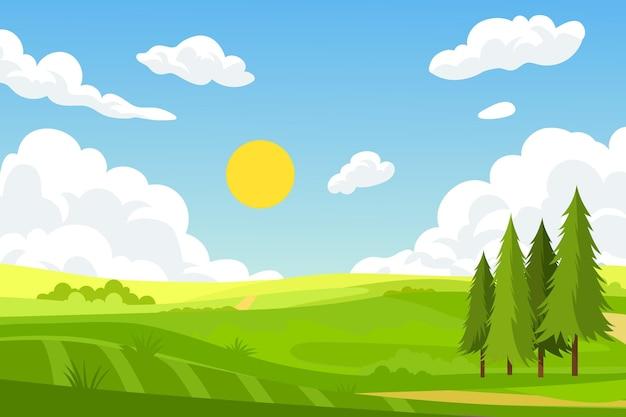 Fundo de paisagem natural para videoconferência