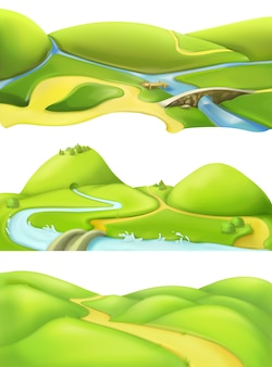 Fundo de paisagem natural