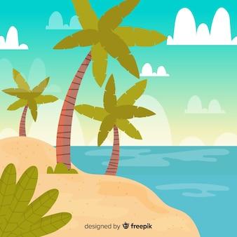 Fundo de paisagem tropical