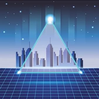 Fundo de paisagem urbana digital