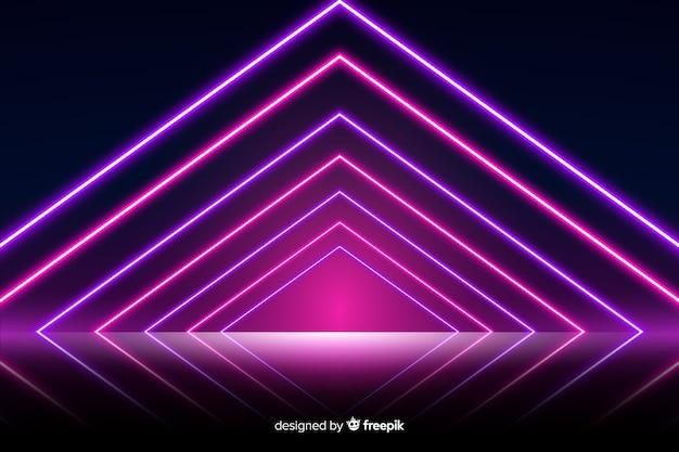 Fundo de palco de luzes de néon
