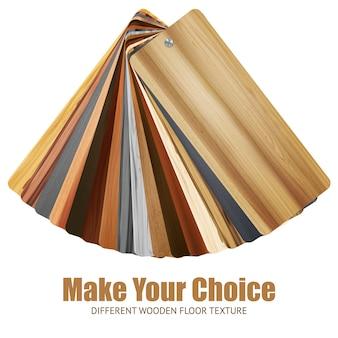 Fundo de paleta de cores de madeira