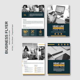 Fundo de panfleto de negócios corporativos criativos