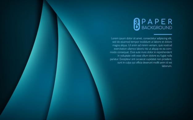Fundo de papel 3d azul escuro
