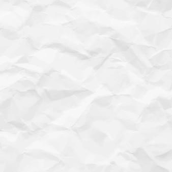 Fundo de papel amassado branco.