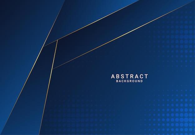 Fundo de papel azul de luxo escuro moderno com textura de triângulo de linha em camadas 3d para site, design de cartão de visita. ilustração vetorial