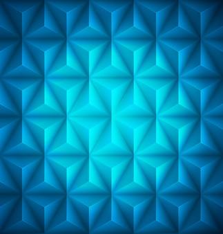 Fundo de papel baixo-poli abstrato geométrico azul.
