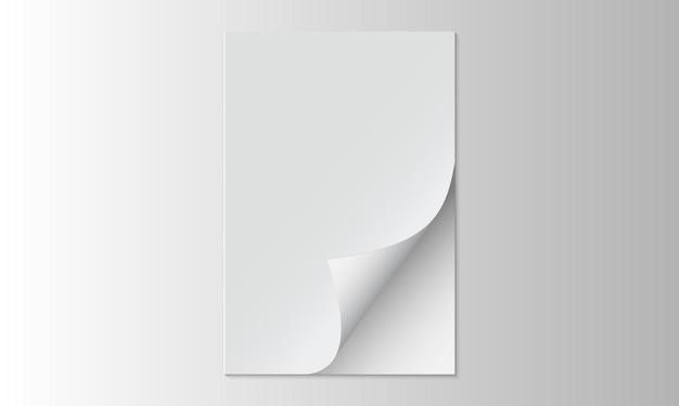 Fundo de papel branco aberto realista. modelo para negócios.