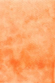 Fundo de papel com textura aquarela laranja