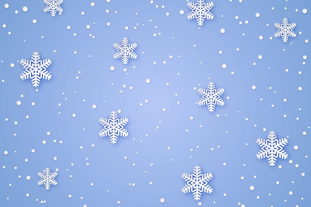 Fundo de papel de inverno