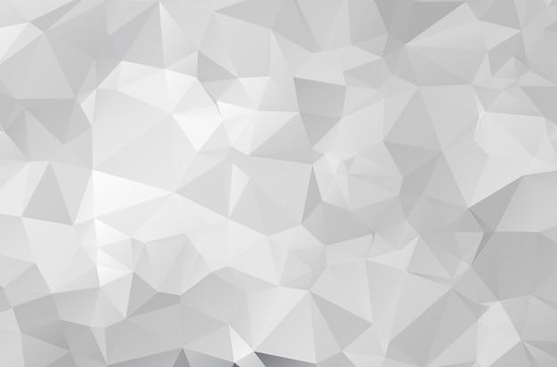 Fundo de papel de mosaico cinza poligonal