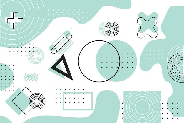 Fundo de papel de parede de ilustração geomtrica moderno e futurista com tons de azul pastel adequado para jogos ou educação