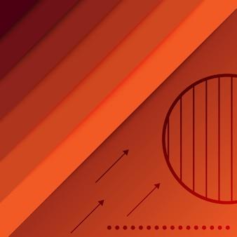 Fundo de papel de parede gradiente de tecnologia abstrata borgonha laranja