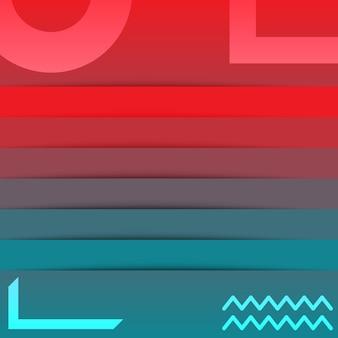 Fundo de papel de parede gradiente vermelho azul de tecnologia abstrata