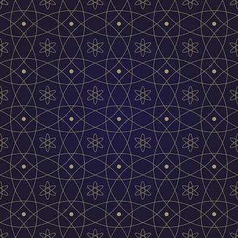 Fundo de papel de parede sem costura padrão geométrico batik
