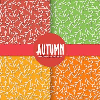 Fundo de papel floral outono com folhas de árvore no fundo colorido