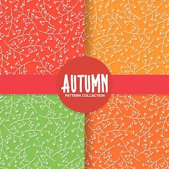 Fundo de papel floral outono com fruta cereja no fundo colorido