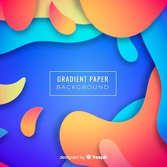 Fundo de papel gradiente