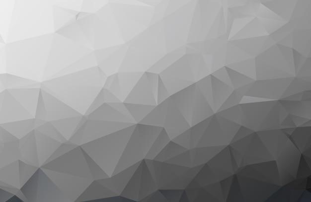 Fundo de papel mosaico cinza poligonal, ilustração vetorial