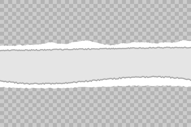 Fundo de papel rasgado com bordas rasgadas e sombra modelo transparente para banner
