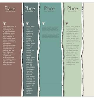 Fundo de papel rasgado com espaço para texto
