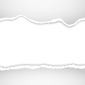 Fundo de papel rasgado. desenho de borda rasgada de ilustração de papel rasgado