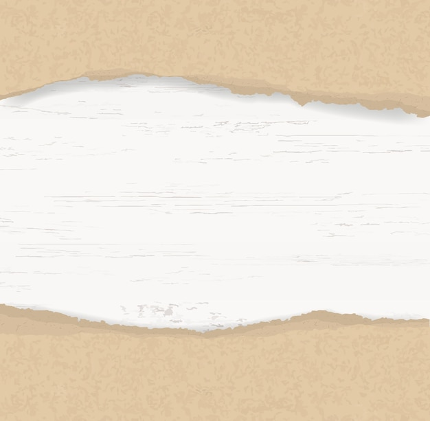 Fundo de papel rasgado na madeira.