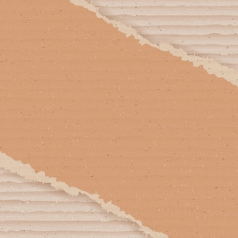Fundo de papelão ondulado. papel de parede de papelão rasgado