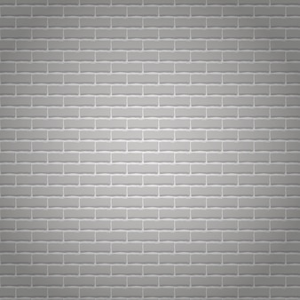 Fundo de parede de tijolo cinza claro realista.