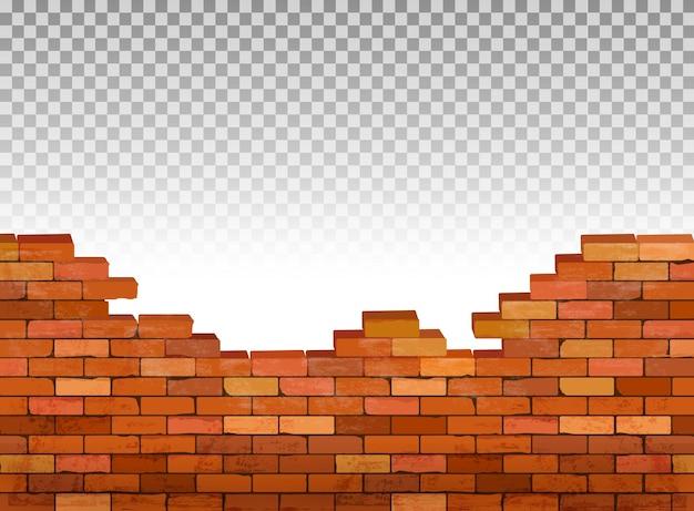 Fundo de parede de tijolo vintage. vetor