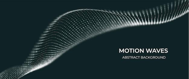 Fundo de partícula branca abstrato onda de fluxo com paisagem de pontos ilustração em vetor tecnologia