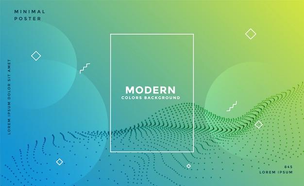 Fundo de partícula colorido moderno memphis