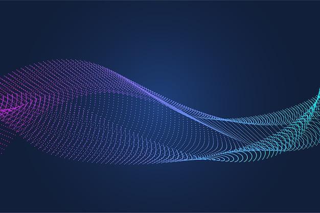 Fundo de partícula holográfica abstrata