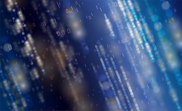 Fundo de partículas abstratas tecnologia