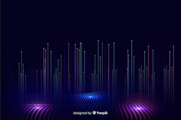 Fundo de partículas caindo gradiente tecnológico