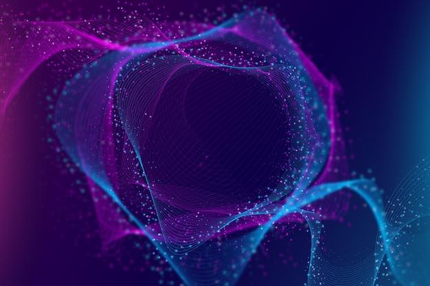 Fundo de partículas coloridas gradiente