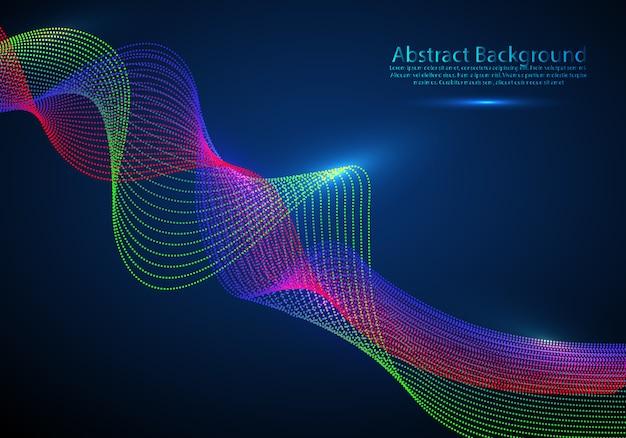 Fundo de partículas de onda