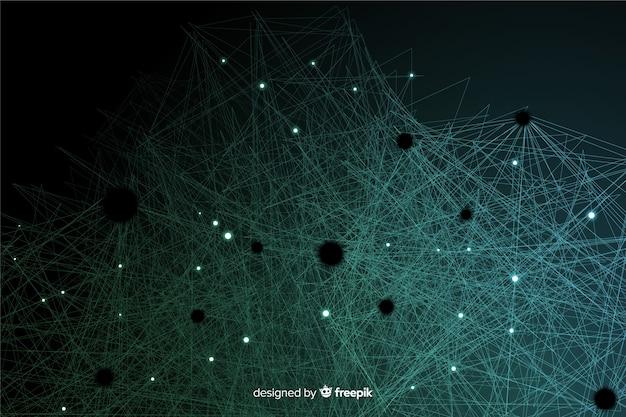 Fundo de partículas de tecnologia abstrata