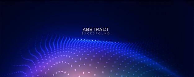 Fundo de partículas de tecnologia azul elegante