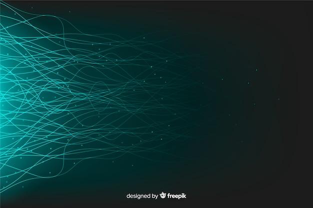 Fundo de partículas de tecnologia brilhante