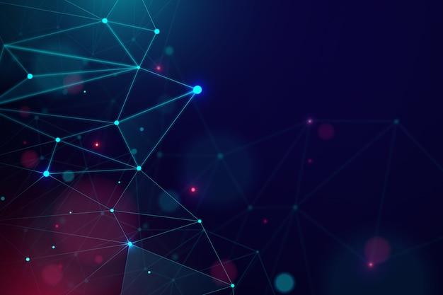 Fundo de partículas de tecnologia realista