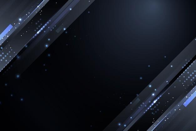 Fundo de partículas escuras com brilhos cinza