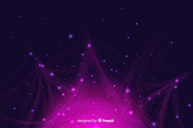 Fundo de partículas gradiente infográfico