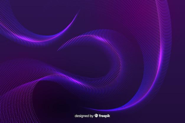 Fundo de partículas violeta brilhante