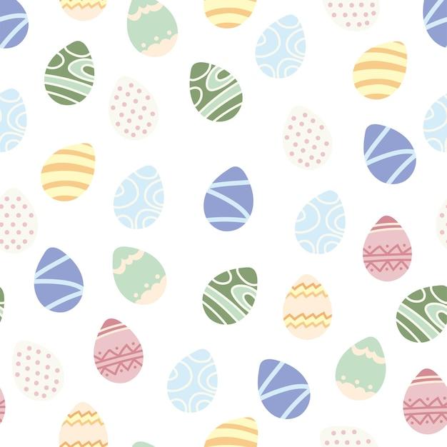 Fundo de páscoa feliz. ovos de pascoa. padrão infinito de vetor sem costura para seu projeto