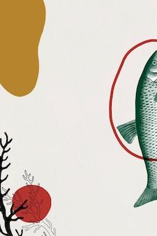 Fundo de peixe vintage