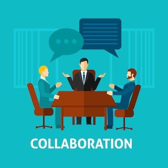 Fundo de personagens de colaboração